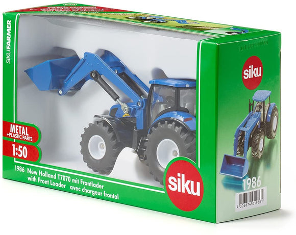 SIKU 1986 NEW HOLLAND T7070 TRACTOR WITH FRONT LOADER 1:50 SCALE
