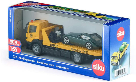 SIKU 2712 BREAKDOWN TRUCK WITH CAR 1:55 SCALE
