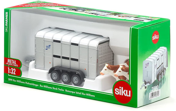 SIKU 2890 IFOR-WILLIAMS STOCK TRAILER 1:32 SCALE
