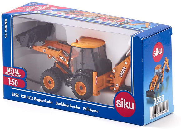 SIKU 3558 JCB 4CX BACKHOE LOADER 1:50 SCALE