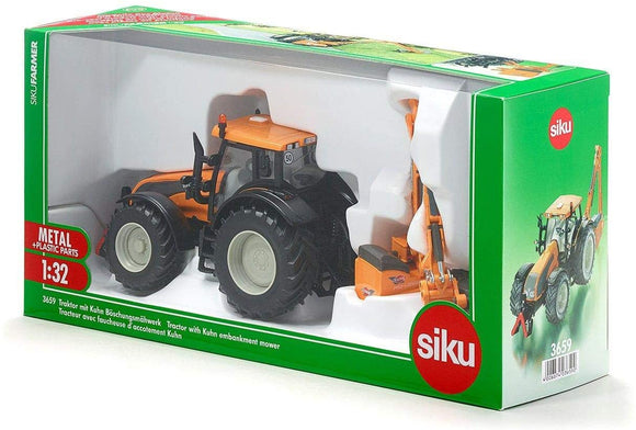 SIKU 3659 TRACTOR WITH KUHN EMBANKMENT MOWER 1:32 SCALE
