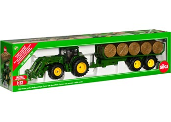 SIKU 3862 TRACTOR WITH ROUND BALER 1:32 SCALE