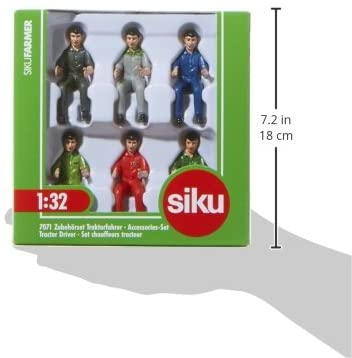 SIKU 7071 TRACTOR DRIVER ACCESSORIES SET 1:32 SCALE
