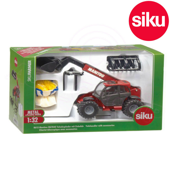 SIKU 8613 MANITOU MLT840 TELEHANDLER WITH ACCESSORIES 1:32 SCALE