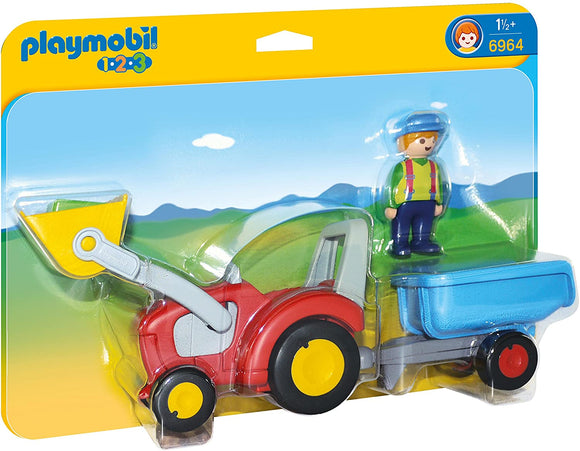 PLAYMOBIL 123 6964 TRACTOR WITH TRAILER