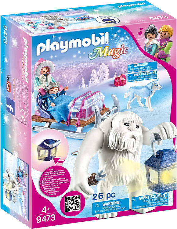 PLAYMOBIL 9473 MAGIC CRYSTAL PALACE YETI WITH SLEIGH