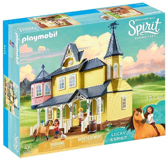 PLAYMOBIL 9475 DreamWorks Spirit Luckys Happy Home