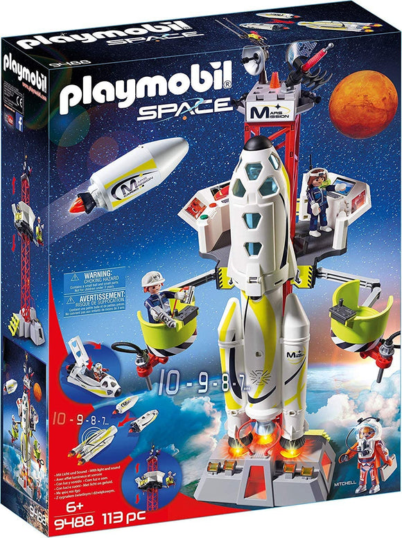 PLAYMOBIL 9488 SPACE MARS MISSION ROCKET WITH LAUNCH SITE
