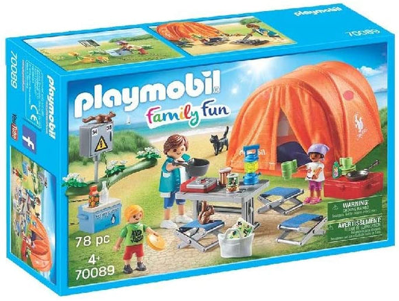 PLAYMOBIL 70089 CAMPING TRIO WITH TENT