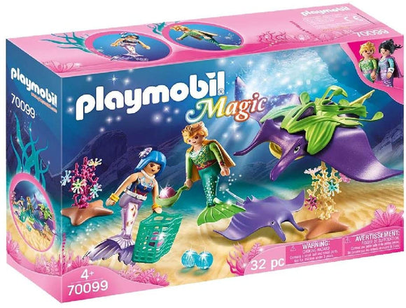 PLAYMOBIL 70099 MAGIC PEARL COLLECTORS WITH MANTA RAYS