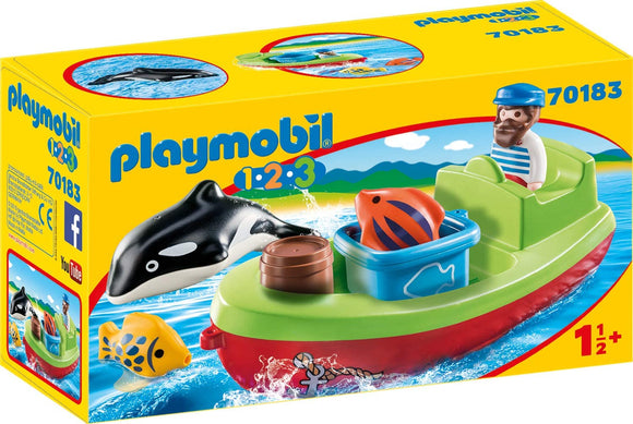 PLAYMOBIL 123 70183 FISHERMAN WITH BOAT
