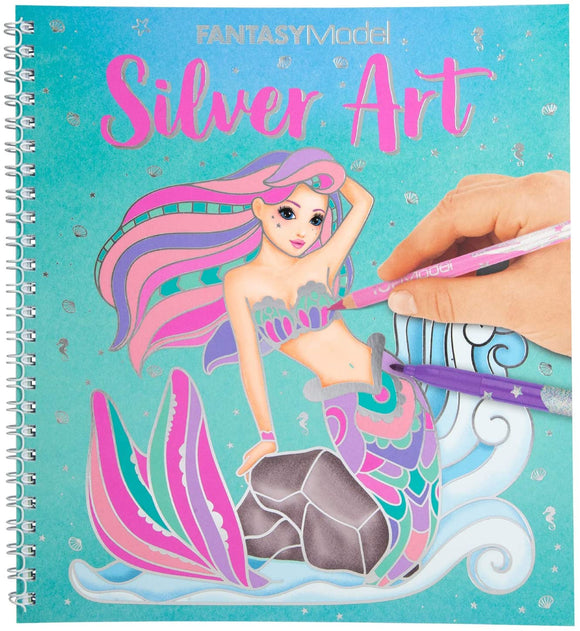 TOP MODEL 11237 FANTASY MODEL SILVER ART COLOURING BOOK