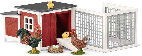 SCHLEICH  42421 FARM LIFE CHICKEN COOP