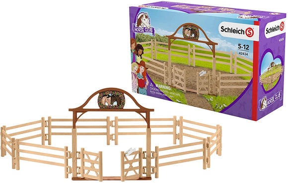 SCHLEICH  42434 HORSE CLUB PADDOCK WITH ENTRY GATE