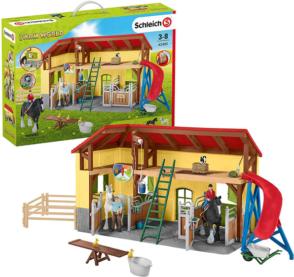 SCHLEICH  42485 FARM LIFE HORSE STABLE