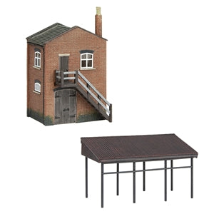 GRAHAM FARISH  SCENECRAFT 42-0088 INDUSTRIAL STORE AND CANOPY