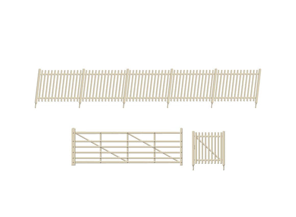 PECO RATIO 432A SR CONCRETE PALE FENCING WITH RAMPS AND GATES