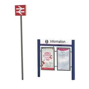 BACHMANN 44-548 STATION SIGNAGE SET