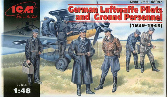 ICM 48082 GERMAN LUFTWAFFE PILOTS AND GROUND CREW 1/48 SCALE