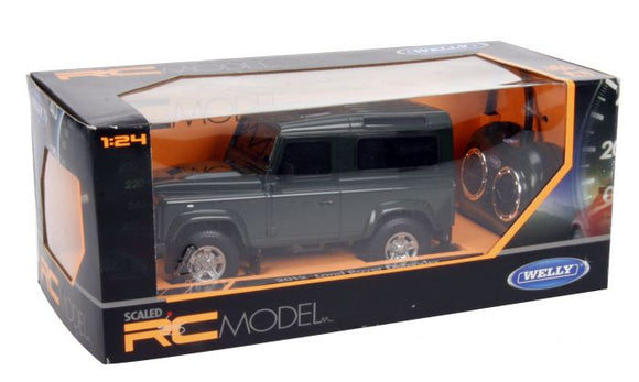 WELLY 1:24 SCALE REMOTE CONTROLLED LAND ROVER DEFENDER