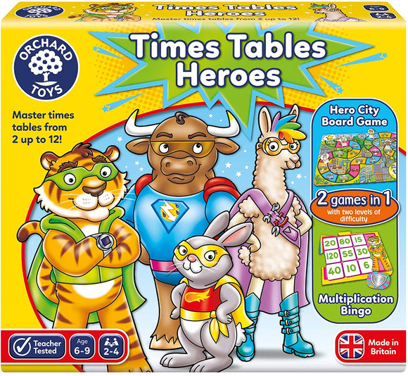 ORCHARD TOYS 101 TIMES TABLES HEROES GAME