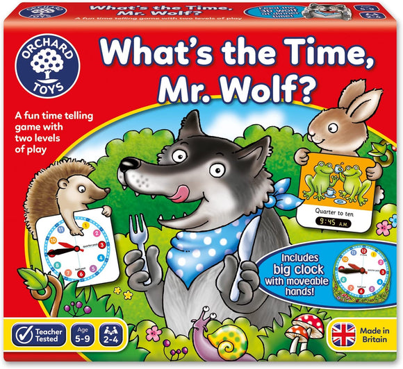 ORCHARD TOYS 049 WHAT'S THE TIME MR WOLF? GAME