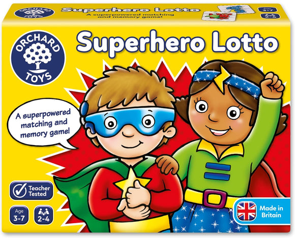 ORCHARD TOYS 065 SUPERHERO LOTTO GAME