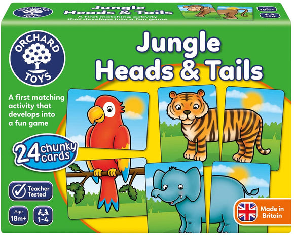 ORCHARD TOYS 058 JUNGLE HEADS AND TAILS GAME
