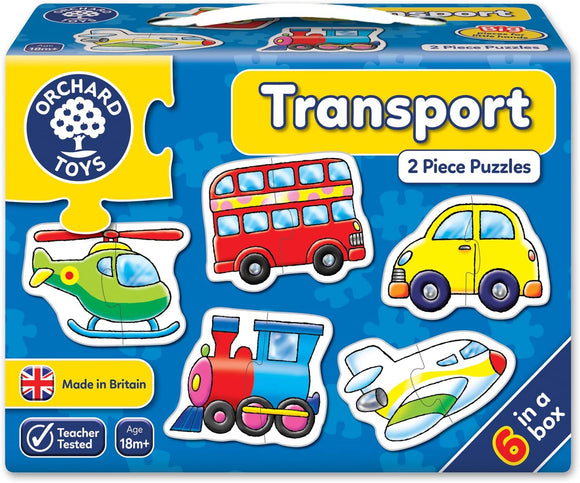 ORCHARD TOYS 203 TRANSPORT 2 PIECE JIGSAW PUZZLES