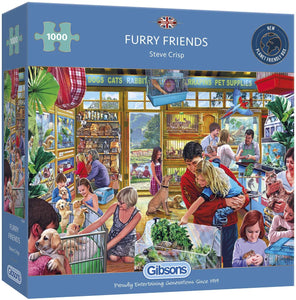 GIBSONS G6291 1000PCE JIGSAW FURRY FRIENDS STEVE CRISP