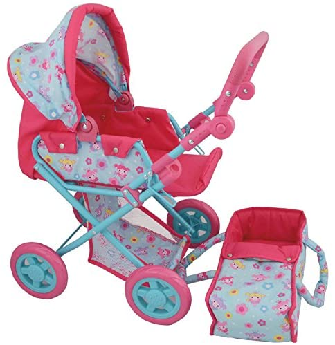 DOLLS WORLD 8175 DELUXE DOLLS PRAM & BABY CARRIER