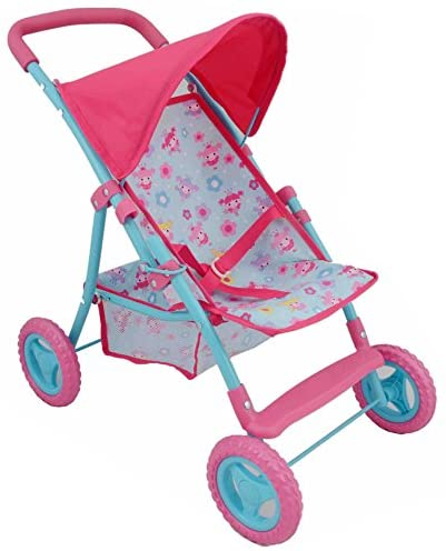 DOLLS WORLD 8185 FOLDABLE 4 WHEEL STROLLER