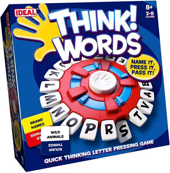 IDEAL 10001 THINK WORDS! BOARD GAME