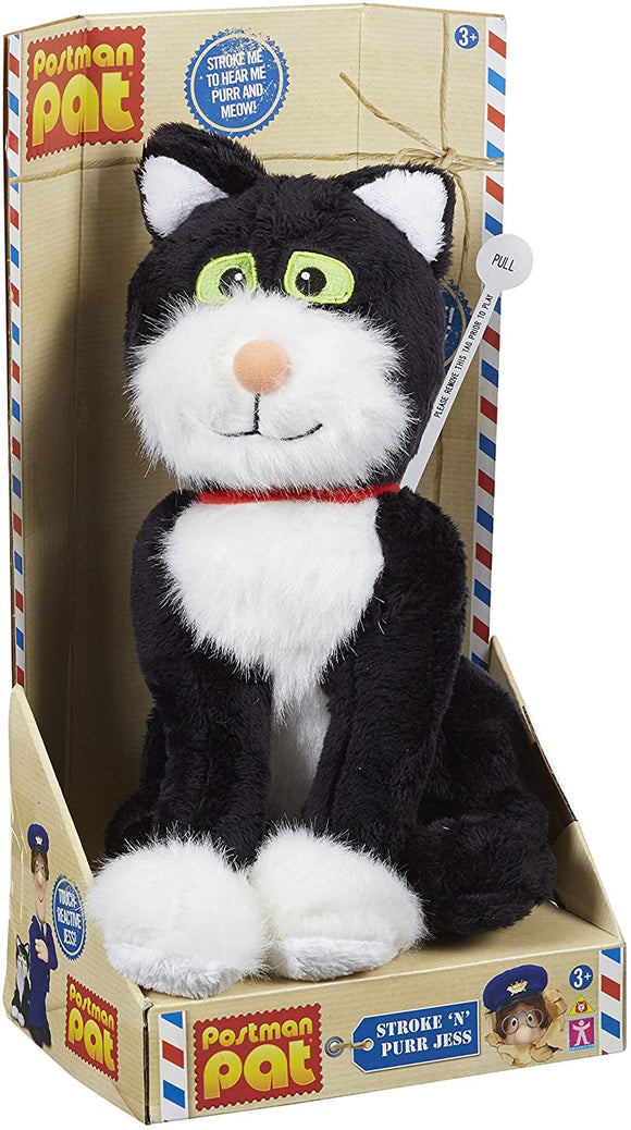 POSTMAN PAT 4713 STROKE N PURR JESS THE CAT SOFT TOY