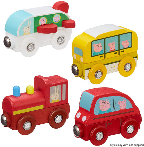 PEPPA PIG 7215 WOODEN MINI VEHICLES ONE SUPPLIED