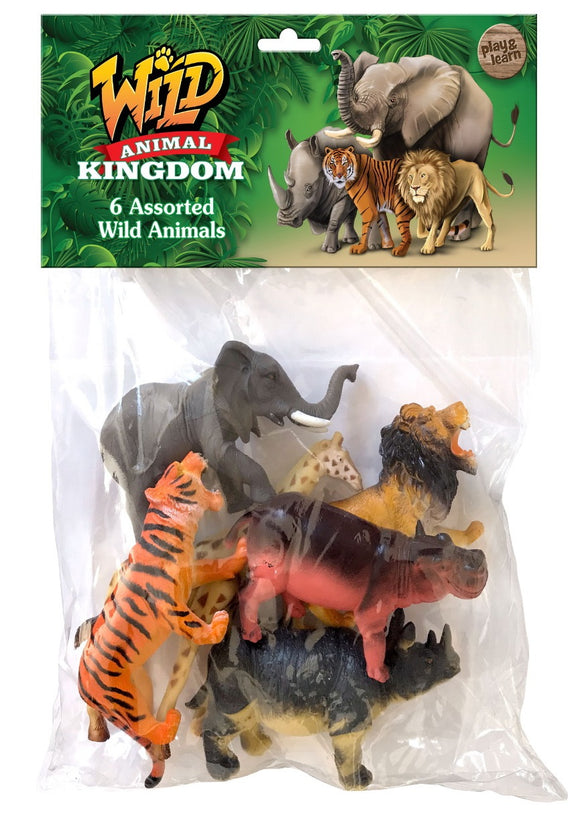 TOYMASTER TY7976 WILD ANIMALS 6 PACK LARGE