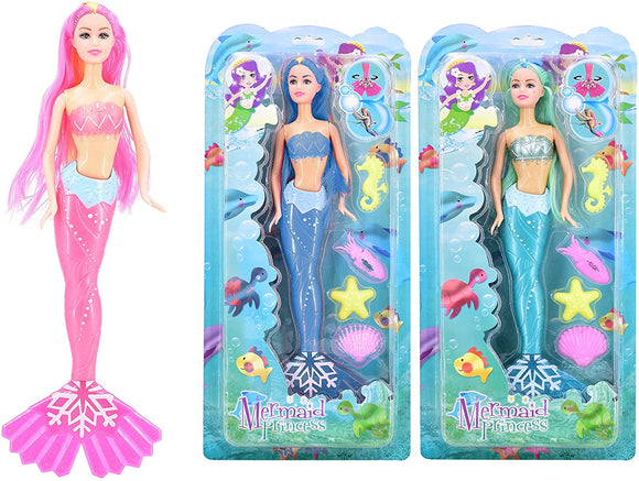 TOYMASTER TY118 MERMAID PRINCESS DOLL (DESIGNS MAY VARY)