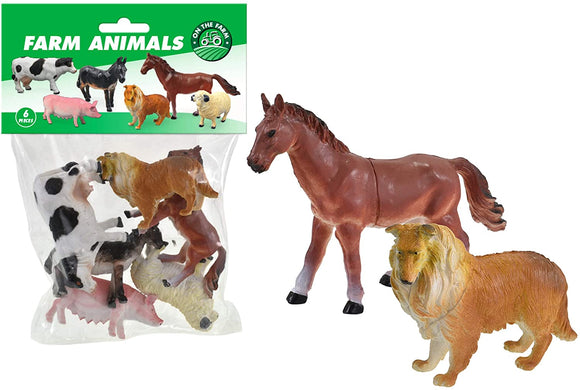 TOYMASTER TY9865 6 PACK FARM ANIMALS IN A BAG
