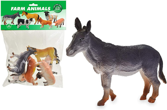 TOYMASTER TY3722 FARM ANIMALS LARGE 6 PACK