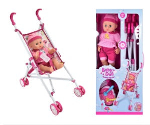 TOYMASTER TY4318 DOLL AND STROLLER SET