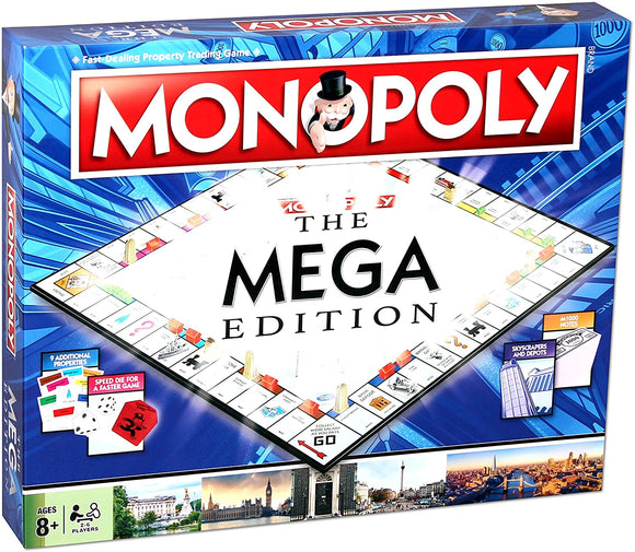 HASBRO GAMING 2459 MEGA MONOPOLY GAME