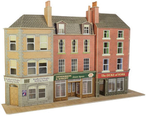 METCALFE PO205 00/H0 SCALE LOW RELIEF PUB & SHOPS