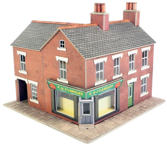 METCALFE PO263 00/H0 SCALE CORNER SHOP RED BRICK