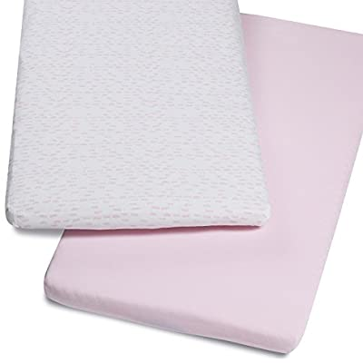 Snuz crib twin pack fitted sheets Wave Rose