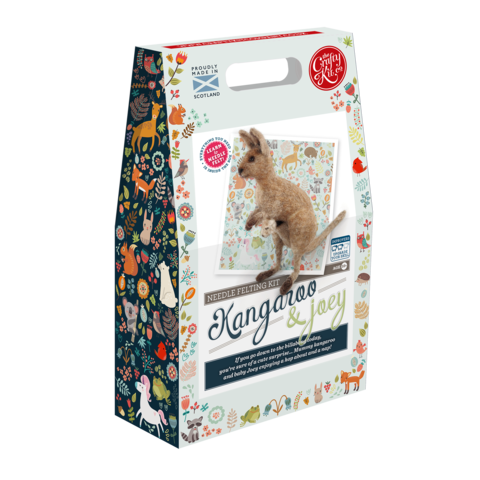 THE CRAFTY KIT CO KANGAROO & JOEY NEEDLE FELTING KIT