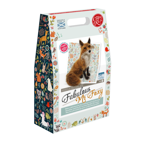 THE CRAFTY KIT CO FABULOUS MR FOXY NEEDLE FELTING KIT