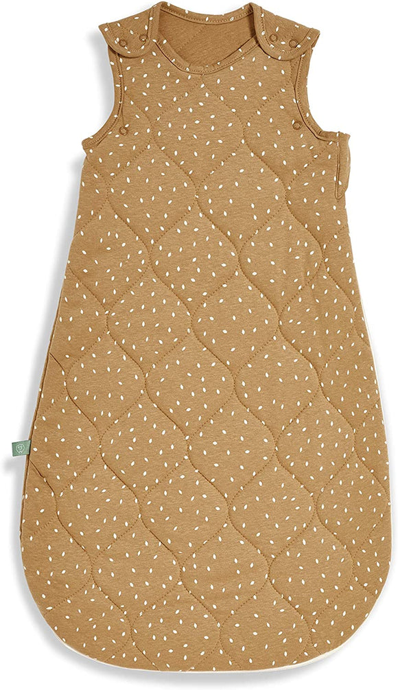 Little Green Sheep sleeping bag 0-6months quilted printed honey
