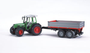 BRUDER 2104 Fendt 209 S with Tipping Trailer