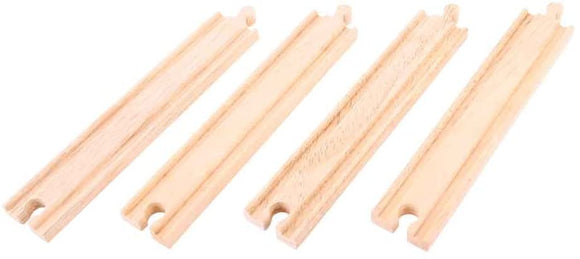 BIGJIGS RAIL BJT100 LONG STRAIGHTS TRACK WOODEN RAILWAY