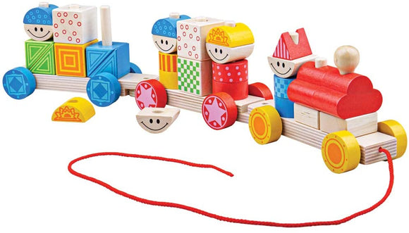 BIGJIGS BABY BB037 WOODEN BUILD UP TRAIN